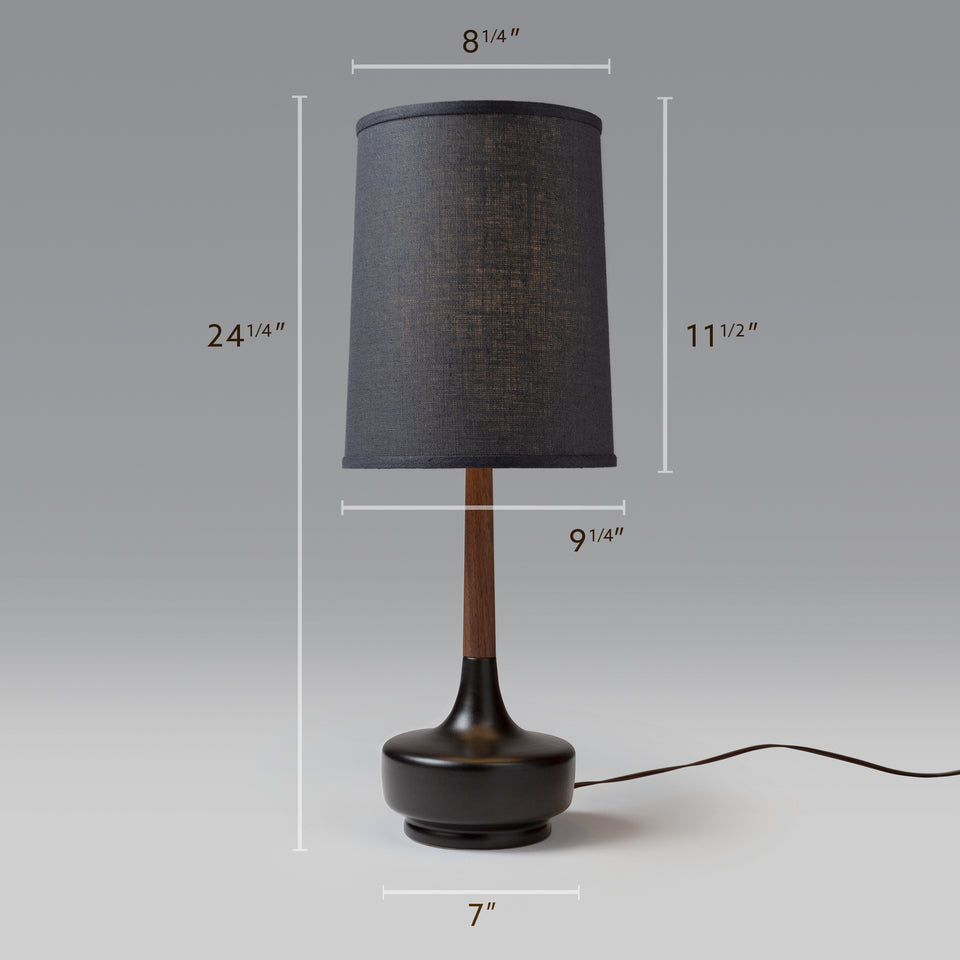 "Mid-Century Table Lamp ""Brooke Night Out"""