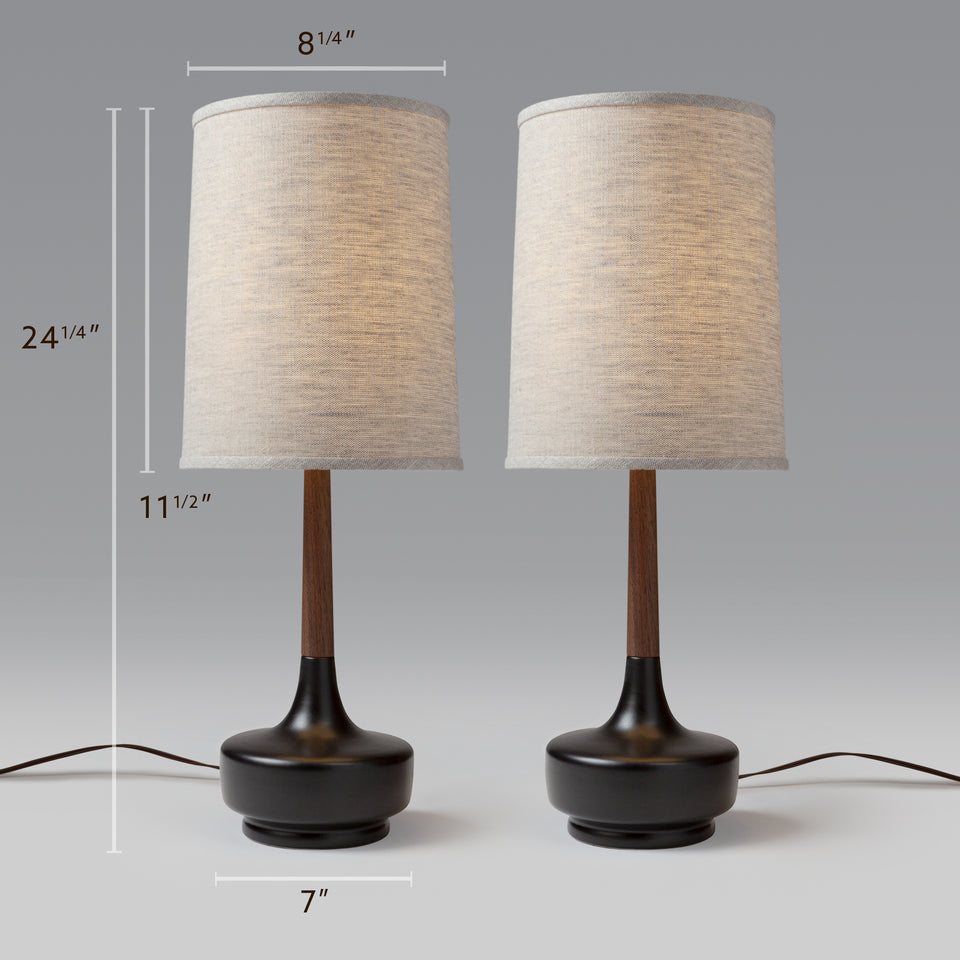 "Michael Mid-Century Table Lamp ""Brooke - P-Town"""