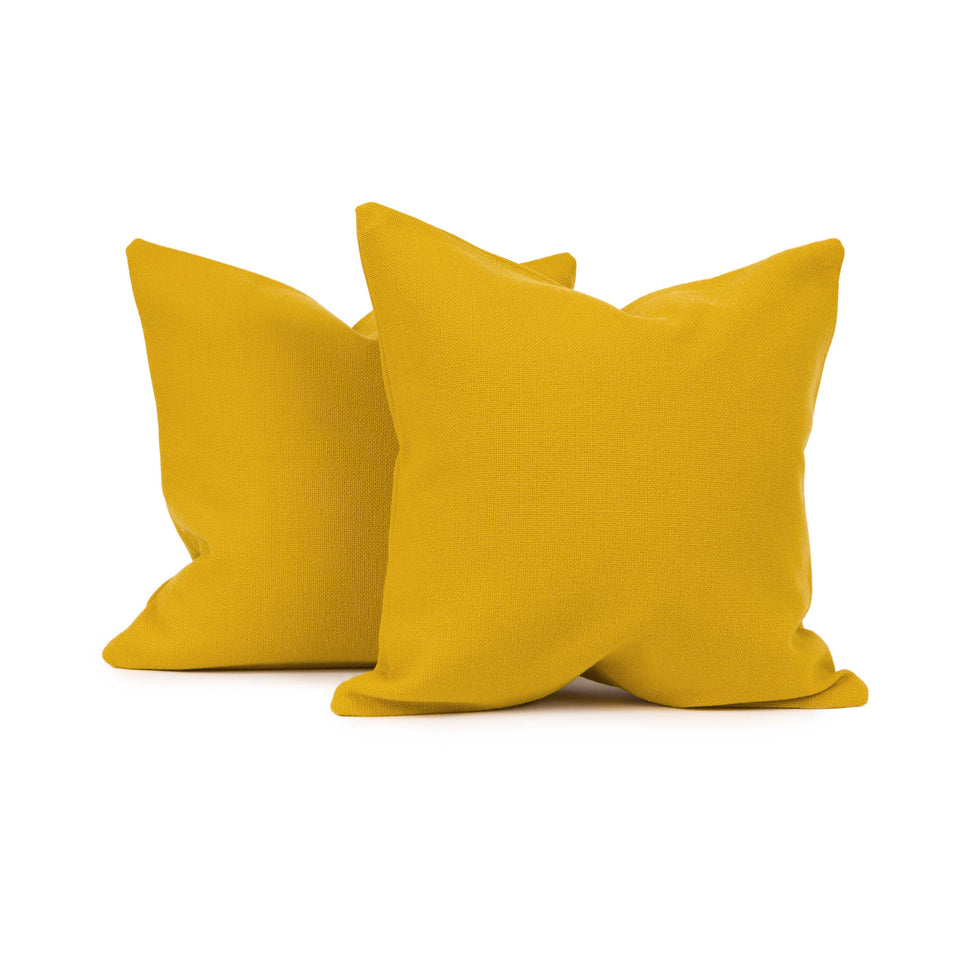 Maharam Hallingdal Mustard Mid-Century Throw Pillow Cover (pair)