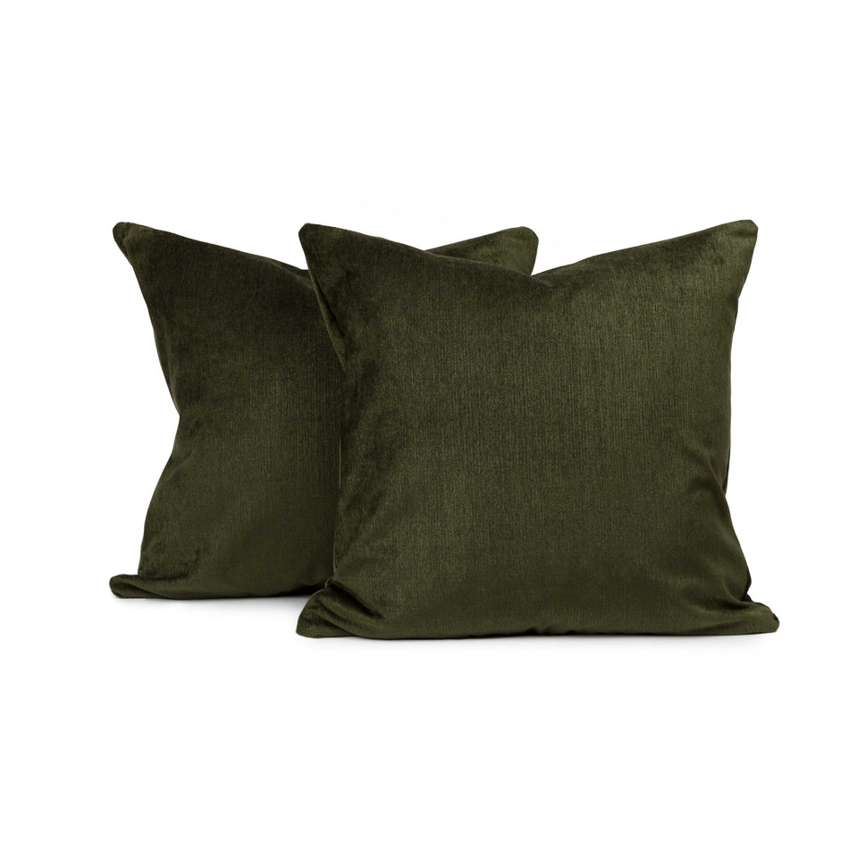 Deep Forest Mid-Century Accent Pillow Cover (pair)