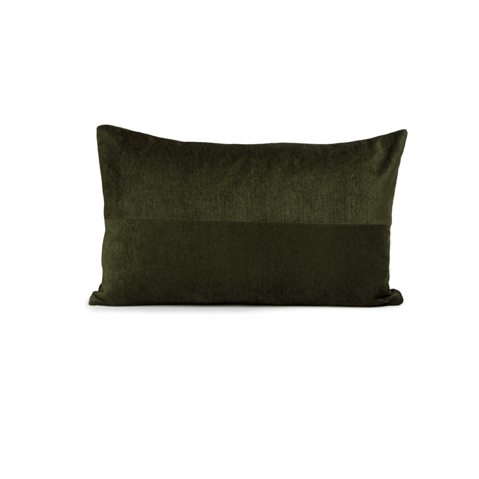 Deep Forest Mid-Century Lumbar Pillow Cover (pair)