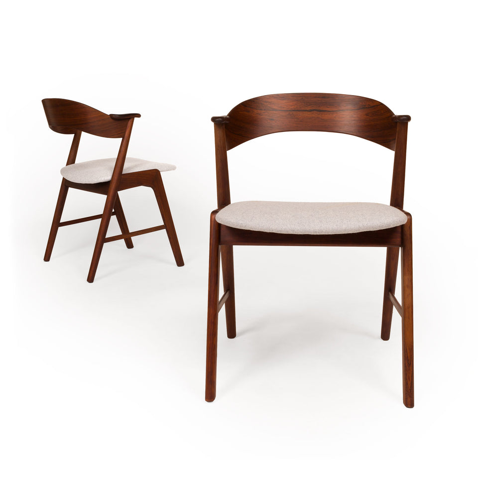Vintage Danish Mid-Century Korup Stolefabrik Rosewood Dining Chair (set of six)