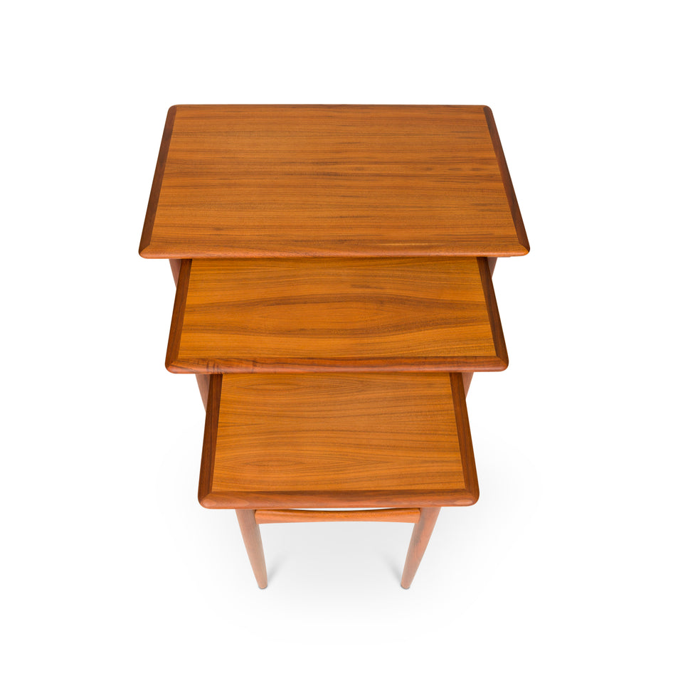 HOLD—Vintage Danish Mid-Century Nested Teak Side Tables