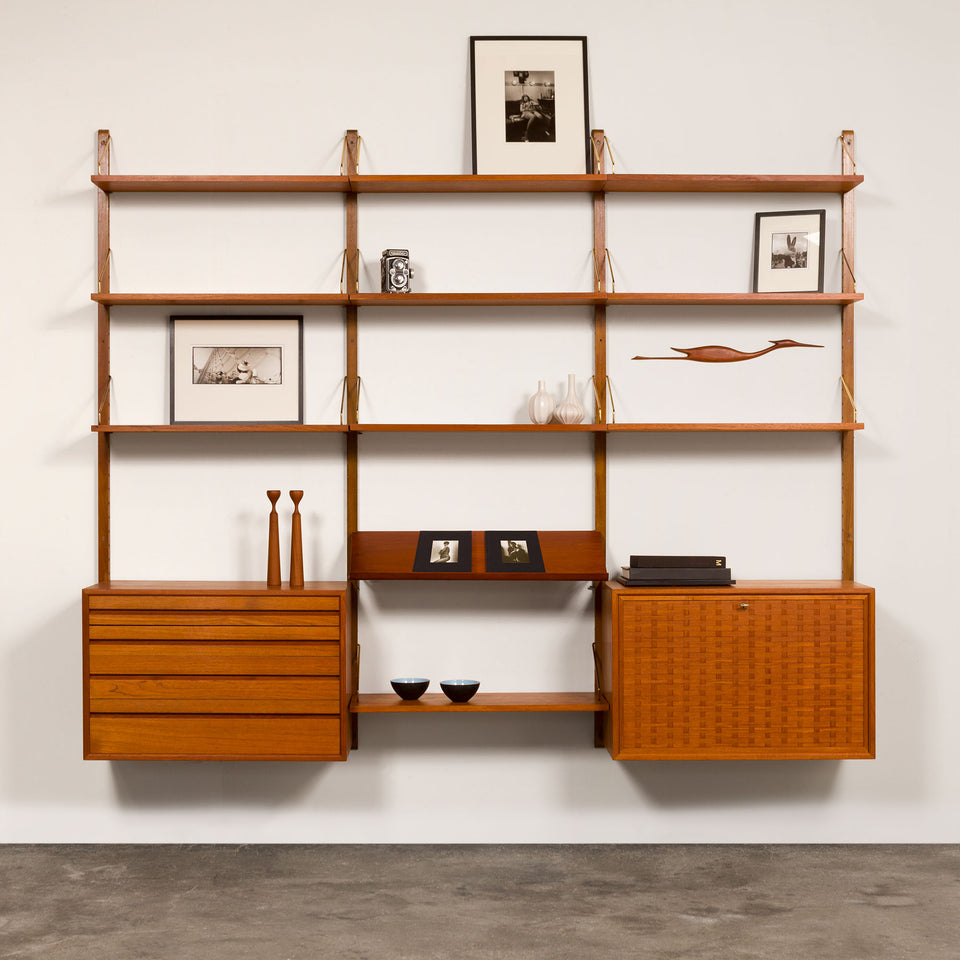 Vintage Danish Mid-Century Royal System by Poul Cadovius in Teak