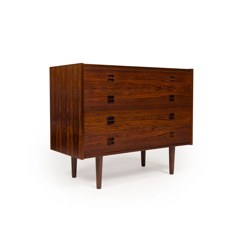 Danish Mid-Century Rosewood Four-Drawer Dresser
