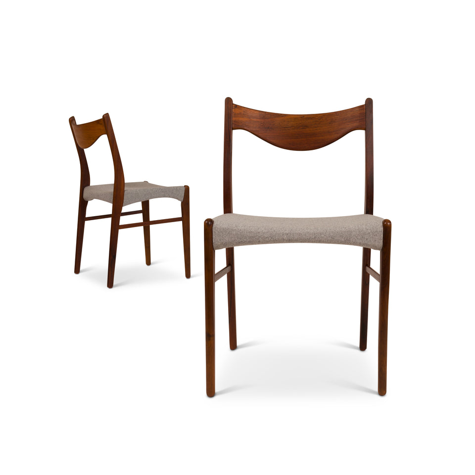 1960s Vintage Danish Mid-Century Rosewood Dining Chairs - Set of Six