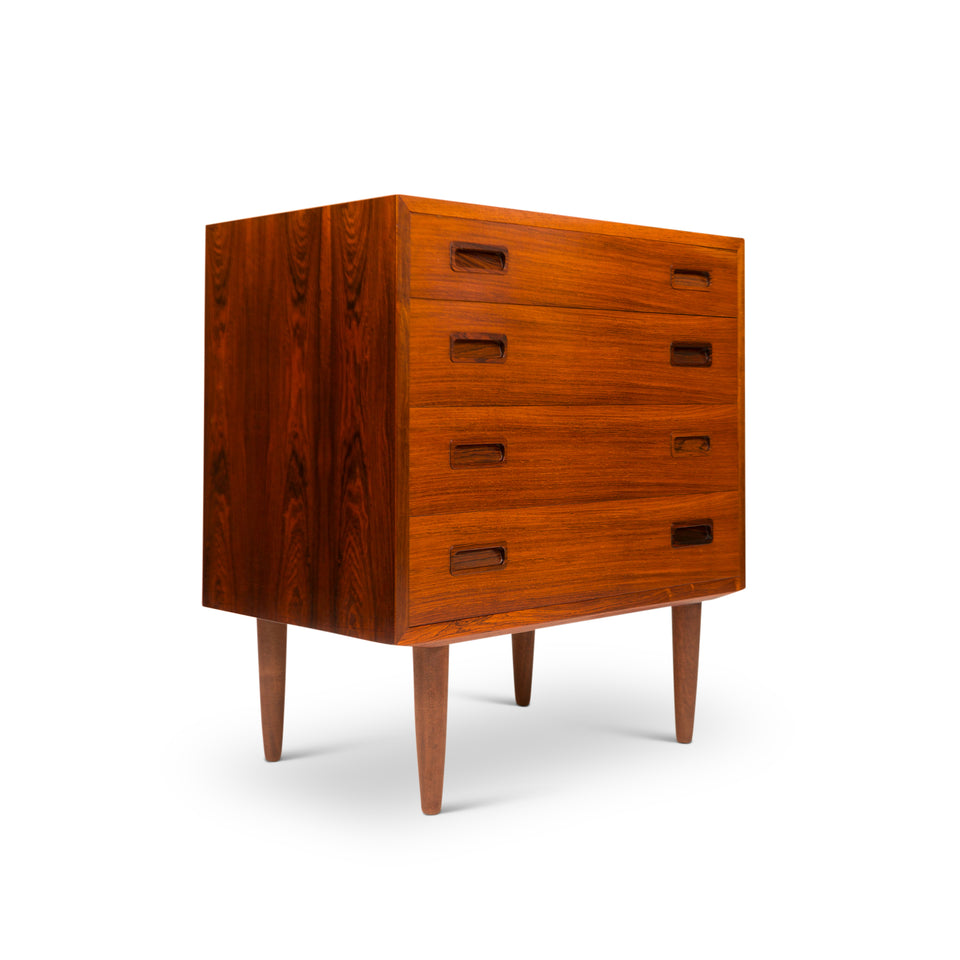 Vintage Danish Mid-Century Rosewood Four Drawer Chest