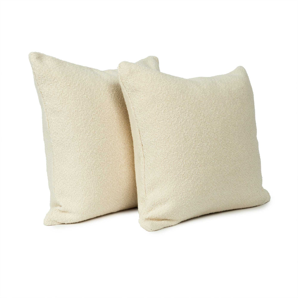 Lush Medium Snow Throw Pillow Cover (pair)