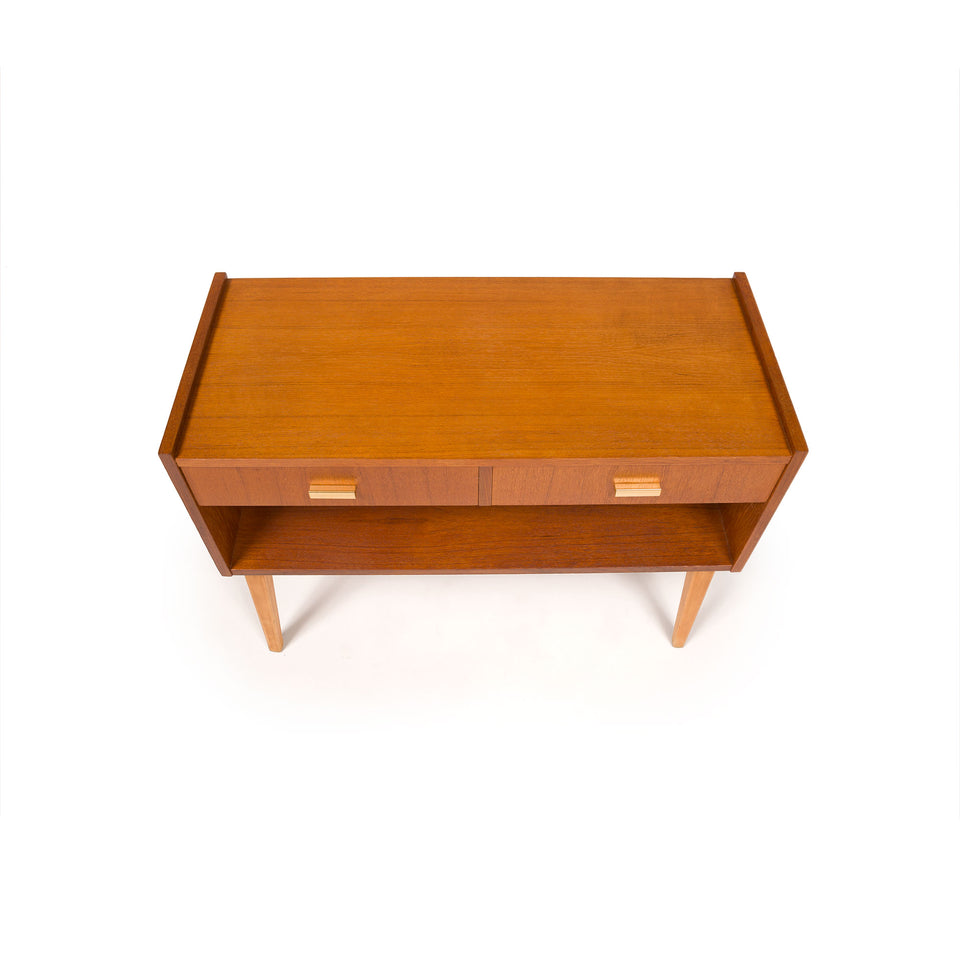 Pair of Danish Mid-Century Modern Teak Nightstands
