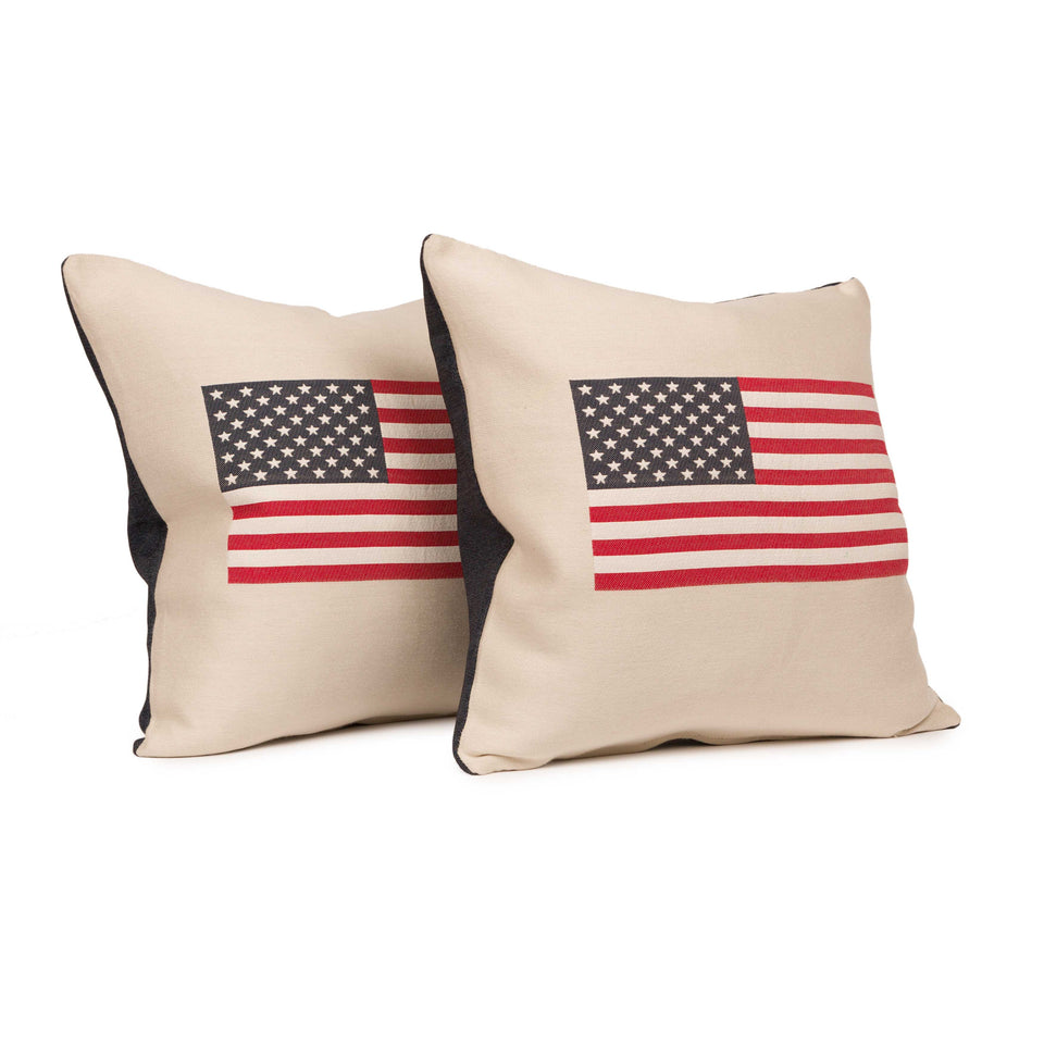 USA American Flag Throw Pillow Inserts (pair)