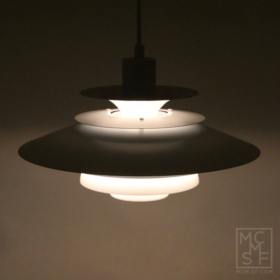 Vintage Danish Mid-Century VERONA, pendant light by JEKA, 1980s
