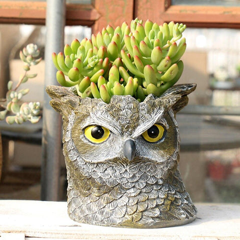 Owl Flower Pot