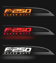 11-14 Ford F250 F-250 SUPERDUTY Illuminated Emblems Side Fender Emblems in Black