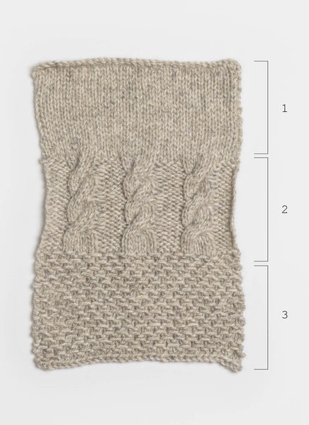 Eco-Cashmere Stitch Sampler