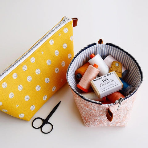 comfortstitching-Zippered Basket Pouch Pattern-sewing pattern-gather here online