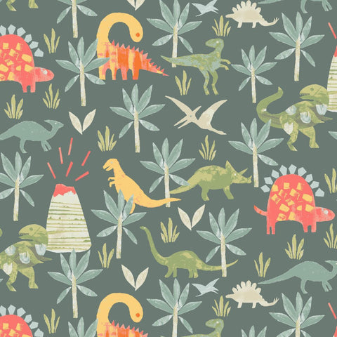 Dear Stella-Jurassic Forest-fabric-gather here online