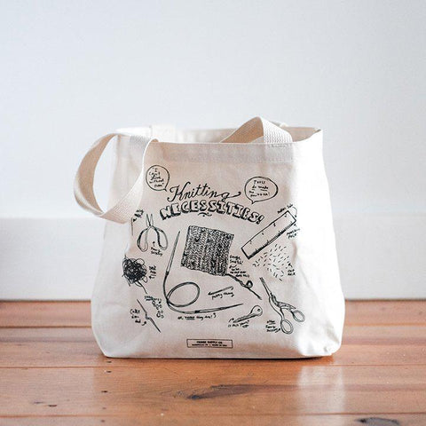Fringe Supply Co. - Knitting Necessities Tote Bag - Default - gatherhereonline.com