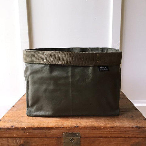 Fringe Supply Co. - Porter Bin project bag in Army Green - Default - gatherhereonline.com