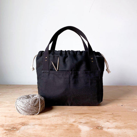 Fringe Supply Co. - Town Bag Black with Black Handles, Special Edition - - gatherhereonline.com