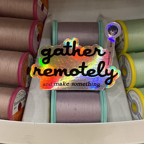 gather here-Gather Remotely Holographic Sticker-accessory-gather here online