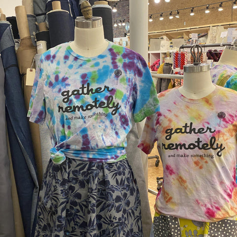 gather here-Gather Remotely Tie Dye T-Shirts-t-shirt-gather here online