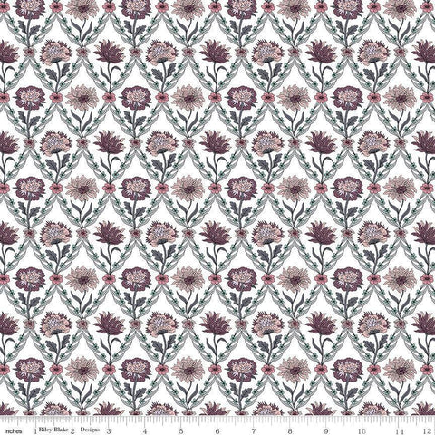 Riley Blake Designs - Kew Trellis Rose - - gatherhereonline.com