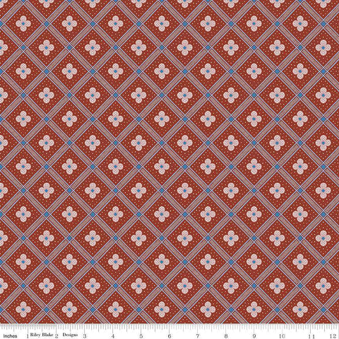 Riley Blake Designs - Manor Tile Red - - gatherhereonline.com