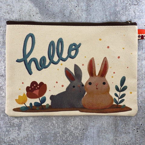 Little Red House-Bunnies Pouch-accessory-gather here online