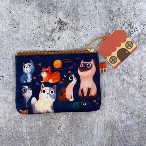 Little Red House-Cat Coin Purse-accessory-gather here online