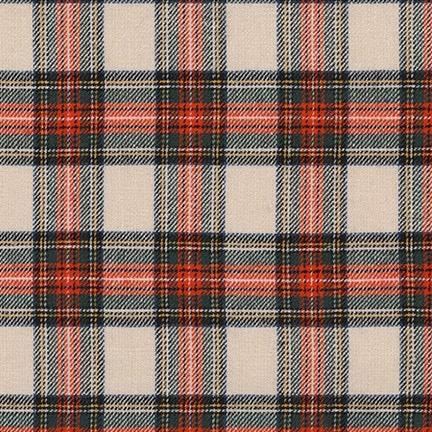 Robert Kaufman - Classic Plaid Twill, White & Red - Default - gatherhereonline.com