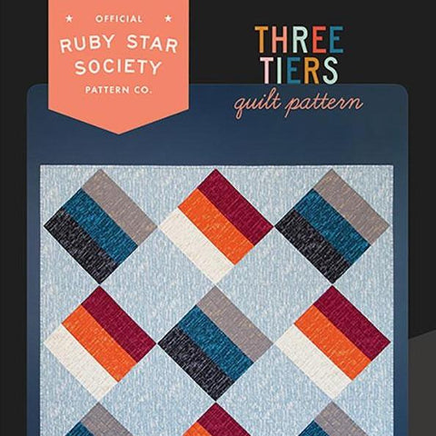 Ruby Star Society-Three Tiers Quilt Pattern-quilting pattern-Default-gather here online