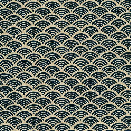 Sevenberry-Waves Navy-fabric-gather here online