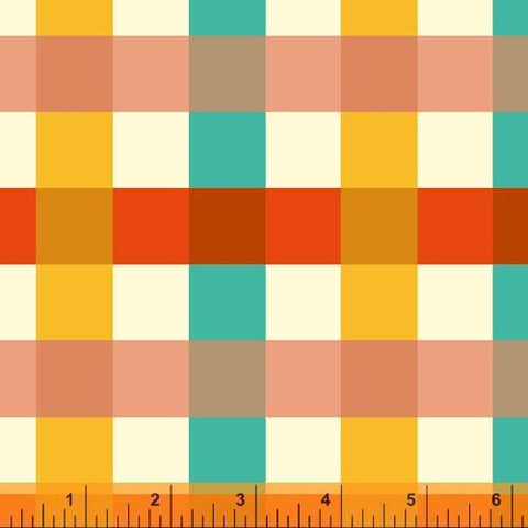 Windham Fabrics-Big Gingham Ocean-fabric-gather here online