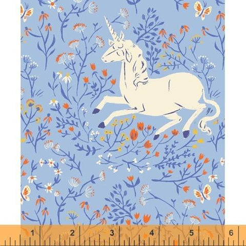 Windham Fabrics - Unicorn Blue - - gatherhereonline.com