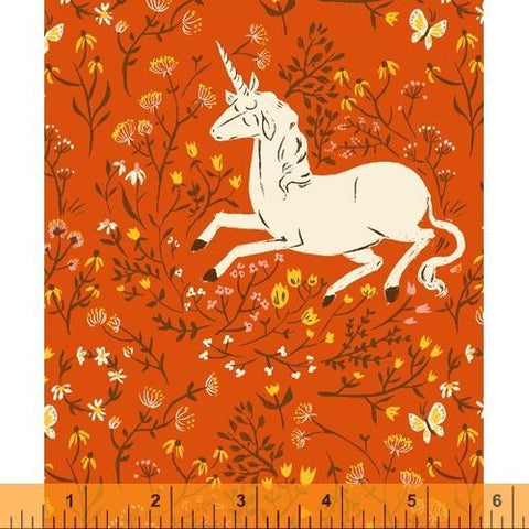 Windham Fabrics - Unicorn Orange - - gatherhereonline.com
