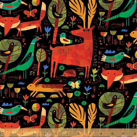 Windham Fabrics-Woodland Forest Critter by Gareth Lucas, Windham-fabric-gather here online