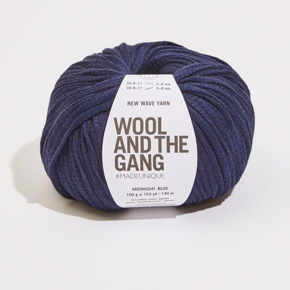 Wool and the Gang - New Wave Yarn - Midnight Blue - gatherhereonline.com
