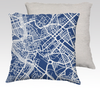 Rome Map Pillow in Navy - Salty Lyon