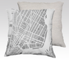 New York Map Pillow in Gray - Salty Lyon