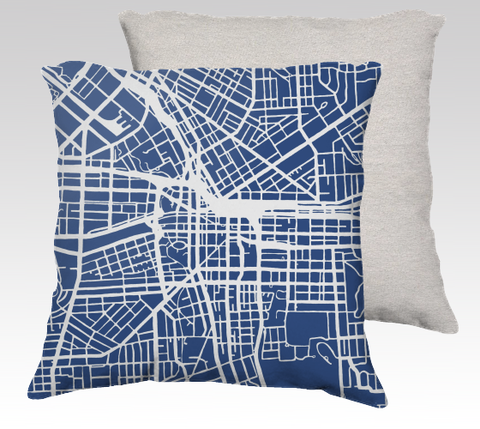 Syracuse Map Pillow in Navy