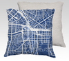Syracuse Map Pillow in Navy - Salty Lyon