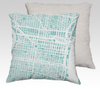 Philadelphia Map Pillow in Tiffany - Salty Lyon