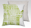 Chicago Map Pillow in Lime - Salty Lyon