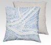 Pittsburgh Map Pillow in Sky Blue - Salty Lyon
