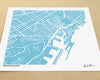 Barcelona Spain Hand-Drawn Map Print