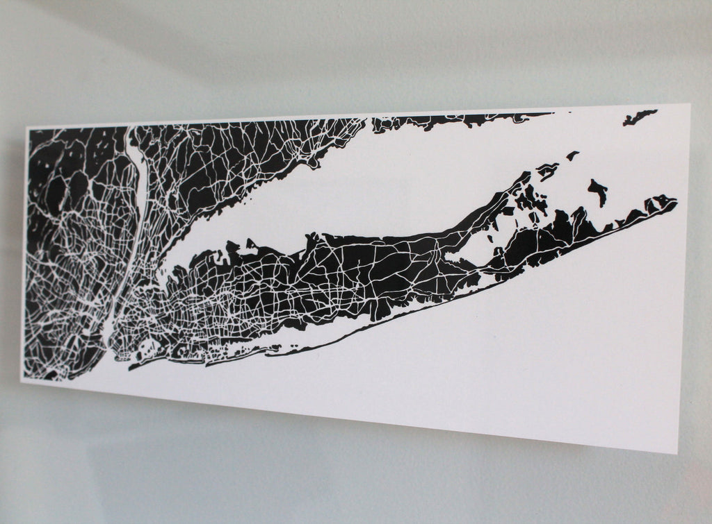 Long Island NY Hand-Drawn Map Print - Salty Lyon - 1