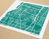 Memphis Tennessee Hand-Drawn Map Print - Salty Lyon - 1