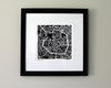 Milan Italy Hand-Drawn Map Print - Salty Lyon - 2
