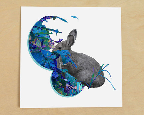 Jack Rabbit Photo Collage Art Print