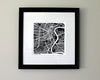 Winnipeg Manitoba Hand-Drawn Map Print - Salty Lyon - 2